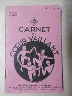 CARNET Du COEUR VAILLANT Cœurs Vaillants De FRANCE 1938 Scoutisme Editions DU CHEVALIER - Scoutisme