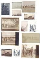 13 Petites Photos Guerre 14 / 18 - Soldats Gradés, Divers, Dont Pont De Wharem - Guerre, Militaire