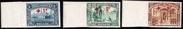 1918 Rotkreuz Überdruck Aus Serie 14 Werte Ungezähnt - 1918 Croix-Rouge