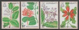 SERIE NEUVE DE KIRIBATI - FLORE : FLEURS DES ILES N° Y&T 42 A 45 - Plants