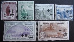 R1680/226 - 1922 - POUR LES ORPHELINS DE LA GUERRE - N°162 à 167 NEUFS* - Cote : 49,00 € - France