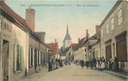 18 - ARGENT SUR SAULDRE - Rue De Clemont En 1905 - Belle Carte Animée En Couleur - Argent-sur-Sauldre