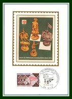Carte Maximum Silk Soie France N° 1800 Jeux Olympiques Echec 1974 Nice Chess - Echecs