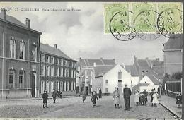 BELGIQUE    Gosselies   Place Leopold Et  Les Ecoles      CPA 1920 - Belgique