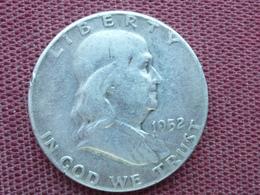 ETATS UNIS Monnaie De Half Dollar Franklin 1952 En Argent - Bondsuitgaven