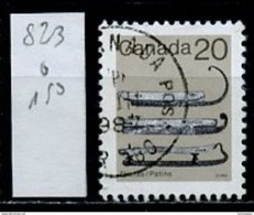 Canada - Kanada 1982 Y&T N°823 - Michel N°858 (o) - 20c Patins à Glace - 1952-.... Reign Of Elizabeth II