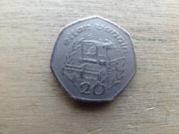 Ile De Man 20  Pence  1988  Km 211 - Regional Coins