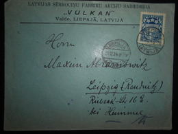 Lituanie Lettre De Leepaja 1924 Pour Leipzig - Lithuania