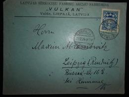 Lituanie Lettre De Leepaja 1924 Pour Leipzig - Lituanie