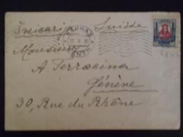 Lituanie Lettre De Kaunas 1930 Pour Geneve - Lithuania