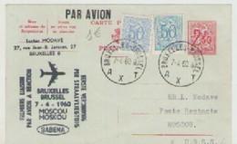 BRUXELLES - MOSCOU  PAR  AVION  07-04-1960 - Belgique