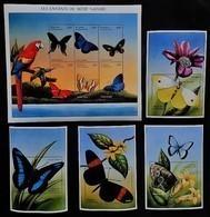 Central Africa 2001**Mi. Klb.2738-43.+bl.659-62 (Butterflies) [1;70] - Papillons