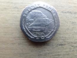 Ile De Man 20  Pence  1997  Km 592 - Regional Coins