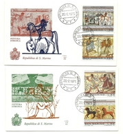 1975 - San Marino 931/34 Pittura Etrusca - FDC - Archéologie