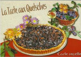 LA  TARTE AUX QUETSCHES   LA RECETTE EST AU VERSO - Recettes (cuisine)
