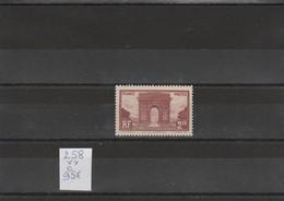 N°258**  Arc De Triomphe De L'Etoile.  Très Bon Centrage. - France