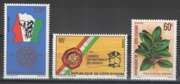 Côte D'Ivoire - YT 526-528 ** - 1980 - Côte D'Ivoire (1960-...)
