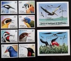 Antigua Barbuda 1990** Mi.1424/31 + Bl.189,190 (Birds) [19;111] - Birds