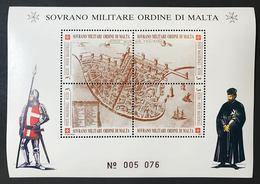 Sovrano Militare Ordine Di Malta SMOM 4 Foglietti 1991 Nuovi Perfetti ** Cod.FRA.1146 - Sovrano Militare Ordine Di Malta