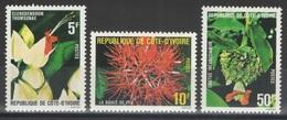 Côte D'Ivoire - YT 523-525 ** - 1980 - Fleurs - Côte D'Ivoire (1960-...)