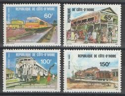 Côte D'Ivoire - YT 540-543 ** - 1980 - Chemin De Fer - Côte D'Ivoire (1960-...)