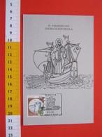 A.04 ITALIA ANNULLO - 1991 BARI SAGRA SAN NICOLA BARCA MAR MEDITERRANEO VIAGGIO VELIERO SANTO RELIGIONE CRISTO - Barche