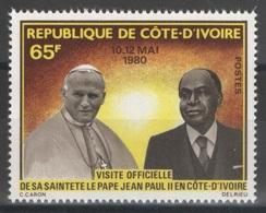 Côte D'Ivoire - YT 538 ** - 1980 - Pape Jean-Paul II - Côte D'Ivoire (1960-...)