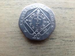 Ile De Man 20  Pence  2008 Km 1257 - Monnaies Régionales