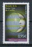 Andorra Frz. Post 'Mond Vom Altar Santa Creu De Canillo' / Andorra, French 'Moon, Detail From Canillo Altar' **/MNH 2018 - Astronomie