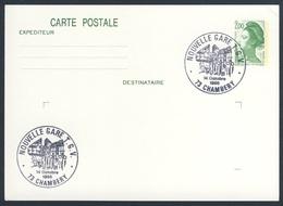 France Rep. Française 1988 Card / Karte / Carte Postale - Nouvelle Gare TGV, Chambery / Railway Station / Bahnhof - Treinen