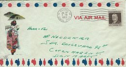 Panama - Canal Zone. Cover Sent To Denmark 1963. # 742 # - Panama