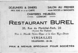 Hotel - Restaurant Burel - Versailles - Etiquettes D'hotels
