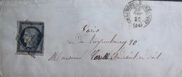 R1703/630 - ✉️ (LSC) - CERES N°4 GRILLE NOIRE - CHAUMONT EN BASSIGNY (20 DECEMBRE 1850) > PARIS - Cote : 70,00 € - 1849-1850 Ceres