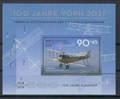 Österreich Block '100 J. Flugpost, Hansa-Brandenburg C1-Flugzeug' / Austria M/s 'Cent. Of Airmail, Airplane' **/MNH 2018 - Post