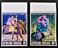 L'HOMME SUR LA LUNE 1969 - NEUFS ** - YT PA 109/10 - MI 707A/08A - HAUTS DE FEUILLES - Togo (1960-...)