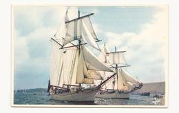 GOELETTES DE LA MARINE NATIONALE L ETOILE ET LA BELLE POULE   / 17 X 12 CM - Segelboote