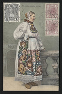 YUGOSLAVIA -Croatian Folk Clothe - VINTAGE POSTCARD - Correspondence Card - (APAT#142) - Yougoslavie