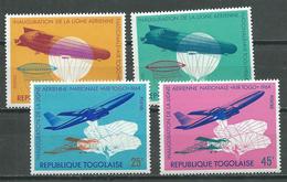 Togo YT N°435/438 Ligne Aérienne Air Togo Neuf ** - Togo (1960-...)