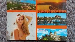 CPSM FEMME SEINS NUS PIN UP PALMA DE MALLORCA MULTI VUES - Pin-Ups
