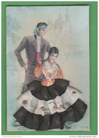 Costumi Spagna Spain España Costumes Folklore Rilievo Tessuto Abiti Vestiti Clothes Vêtements - Ricamate