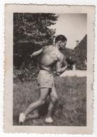Photo Originale Homme Boxe Boxeur Torse Nu Muscles Culturisme - Sport