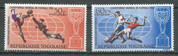 Togo Poste Aérienne YT N°61/62 Coupe Du Monde De Football 1966 Neuf ** - Togo (1960-...)