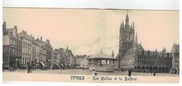 YPRES  -  Les Halles Et Le Beffroi  (2-luiks Kaart) - Ieper