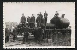 YUGOSLAVIA  - VINTAGE PHOTO POSTCARD - Old Locomotive, 1939.  (APAT#04) - Yougoslavie