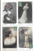 10962 - Lot De 4 CPA Les Reines De La Mode - Mode