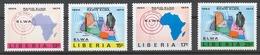 Liberia 1974 Mi# 903-06** RADIO ELWA, 20th ANNIV. - Liberia