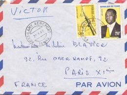 TCHAD ENVELOPPE DU 28 AVRIL 1963 DE FORT LAMY POUR PARIS - Tchad (1960-...)