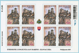 SAN MARINO 2007 Emissione Congiunta San Marino Slovacchia COD.FRA.1151 - San Marino