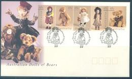 AUSTRALIA  - FDC - 8.5.1997 - AUSTRALIAN DOLLS AND BEARS - Yv 1583-1587 - Lot 18622 - Premiers Jours (FDC)