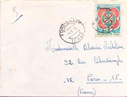 TCHAD ENVELOPPE DU 4 SEPTEMBRE 1971 DE FORT LAMY POUR PARIS - Tchad (1960-...)